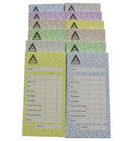 Agenda Assorted Colour Check Pads (12)