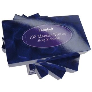 Cloudsoft 2 ply Mansize Facial Tissues