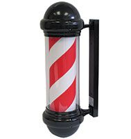 Traditional Barber Pole Electric 240v - Black, Red & White